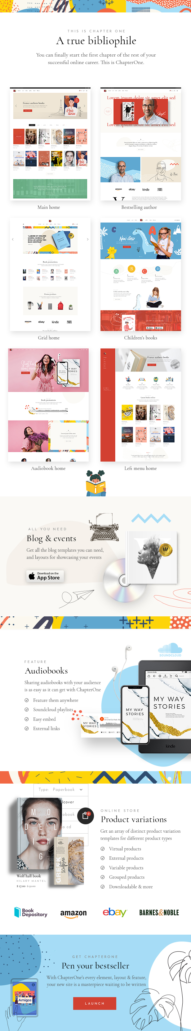 ChapterOne - Bookstore and Publisher Theme - 2